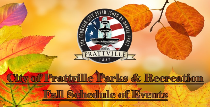 Parrks and Recreation Fall Schedule of Events