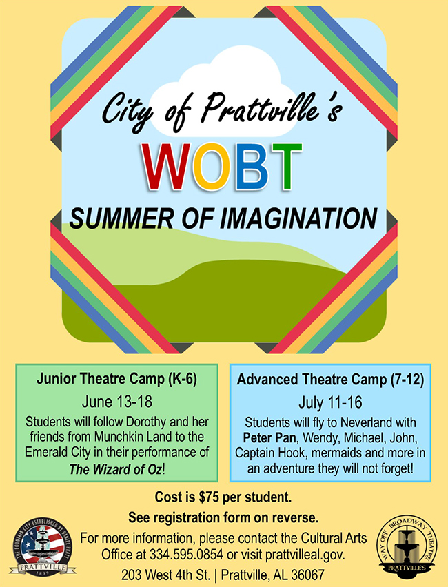 2016 Theatre Summer Camp Poster