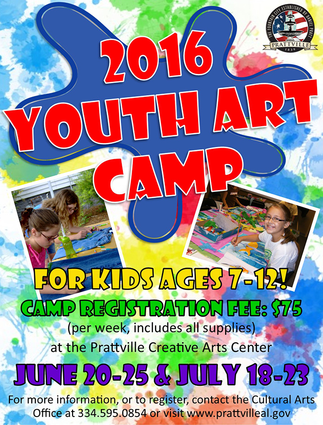2016 Youth Art Camp Poster