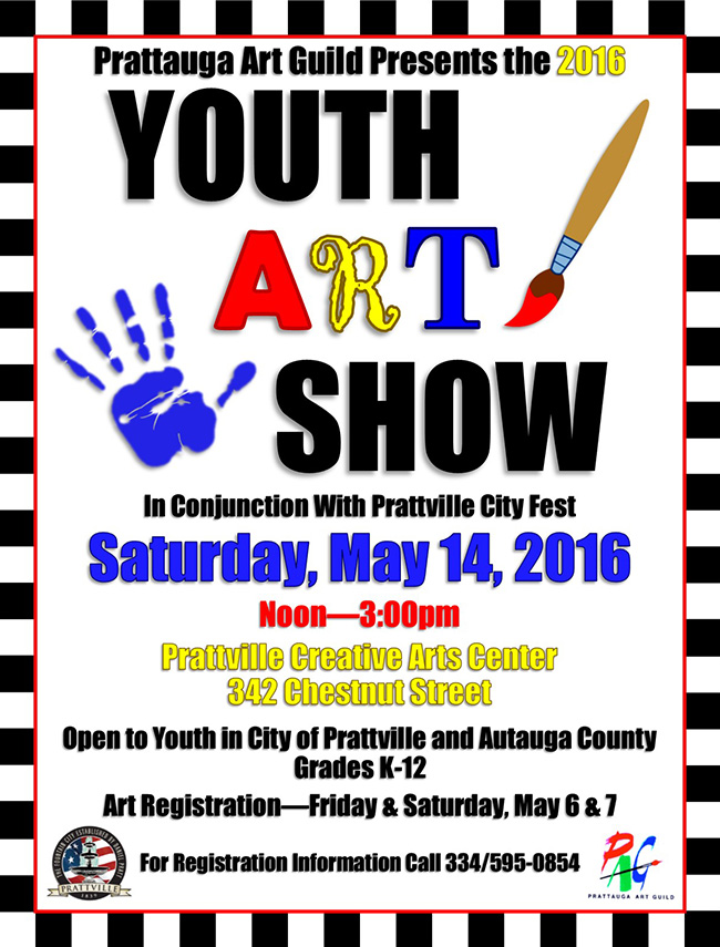 2016 Youth Art Show Flyer