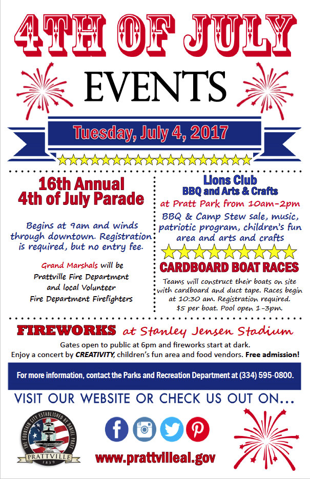 4th of July Info Poster 2017